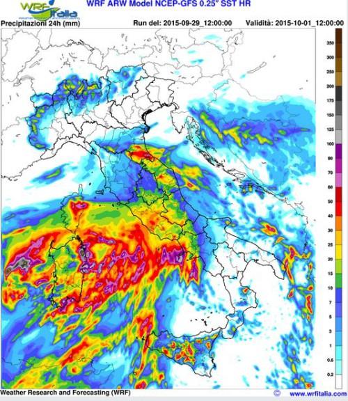 Forte fase di maltempo: oggi e domani attesi nubifragi