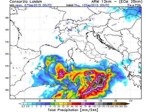 Maltempo Sud Italia: violenta perturbazione in arrivo, possibili alluvioni-lampo?