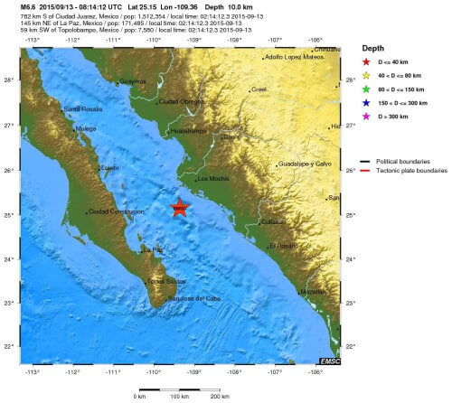 Terremoto Messico: forte scossa di magnitudo 6.6 Richter