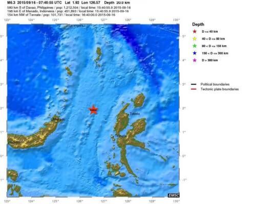 Terremoto Isole Mollucca; magnitudo fissata a 6.3 Richter