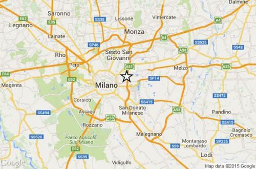 Terremoto Milano oggi 22 Settembre 2015, scossa M 2.3 Richter