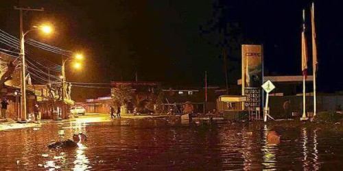 Coquimbo allagata dall'onda di tsunami