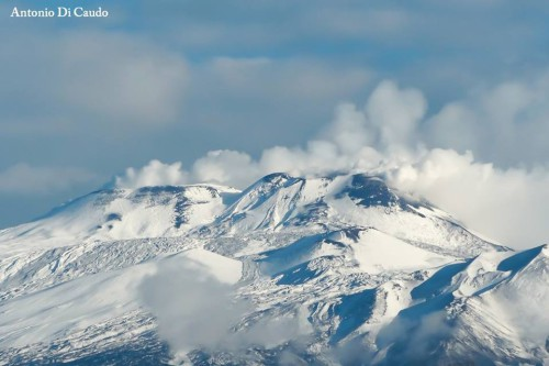 Neve abbondante in arrivo sull'Etna