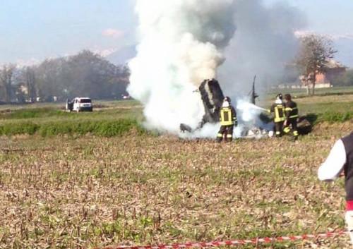 Convertiplano precipita nel Vercellese: due morti