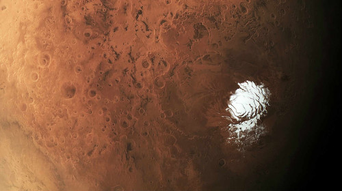 L'incredibile immagine del Polo Sud di Marte ripreso dal Mars Express
