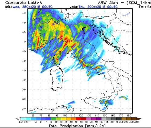 Forte maltempo sull'Italia, nel pomeriggio nuovo rischio nubifragi