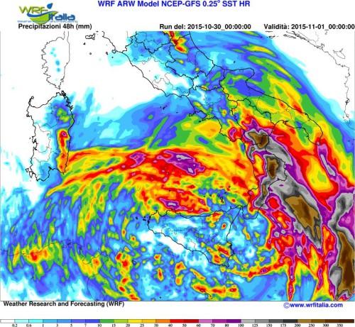 Maltempo al Sud Italia, rischio nubifragi ed alluvioni-lampo tra Sicilia e Calabria?