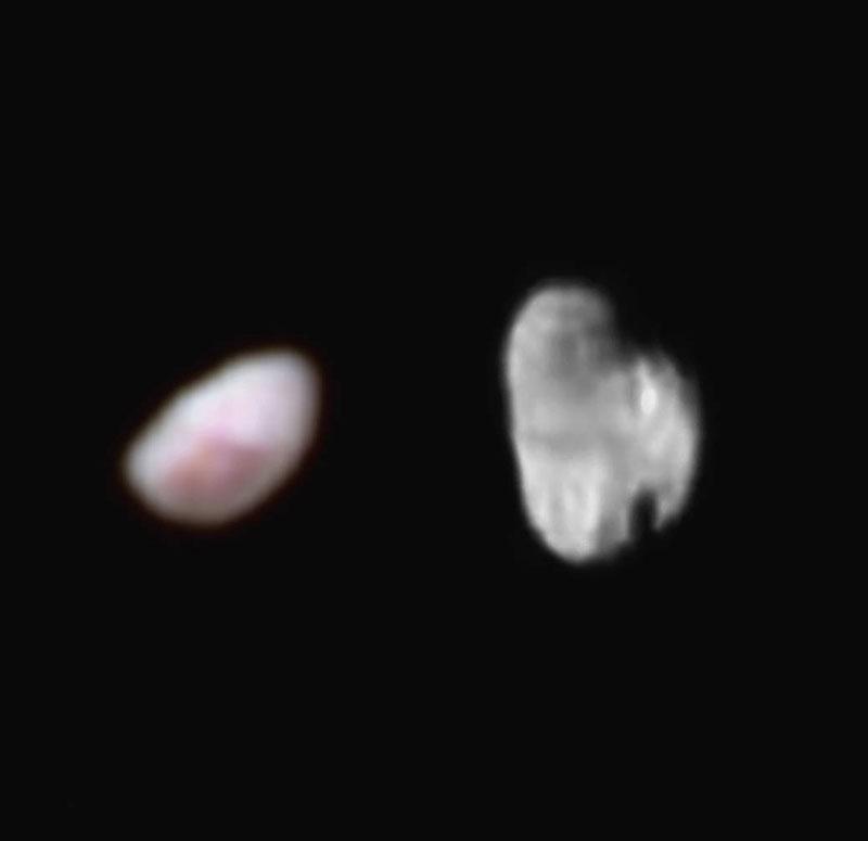 Notte ed Idra, le due minuscole lune di Plutone riprese da New Horizons