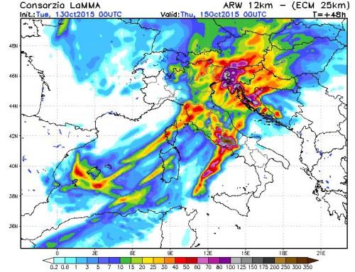 Intensa fase di maltempo sull'Italia, rischio precipitazioni eccezionali su Lazio, Campania e Triveneto