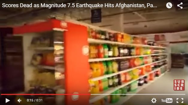 Terremoto in Afghanistan, oltre 150 morti, video durante la scossa