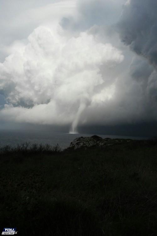 Tromba marina davanti Otranto, evento spettacolare senza danni