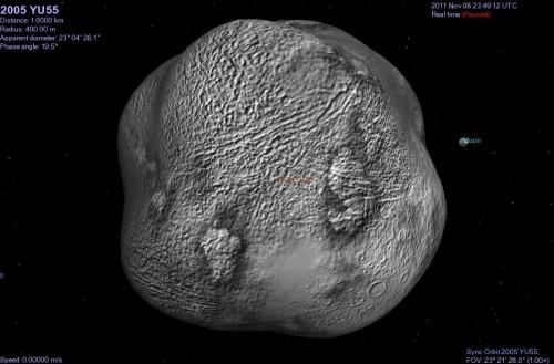 Accadde oggi: il 9 novembre 2011 l'asteroide 2005 YU55 sfiorò la Terra