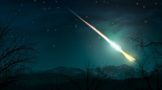 Meteora: grande scia verde luminosa avvistata nel sud Italia