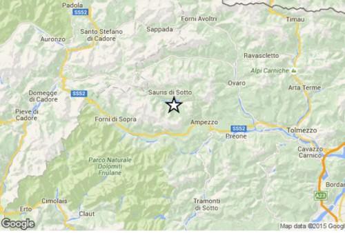 Terremoto oggi Friuli-Venezia Giulia, scossa di magnitudo 3.4 Richter