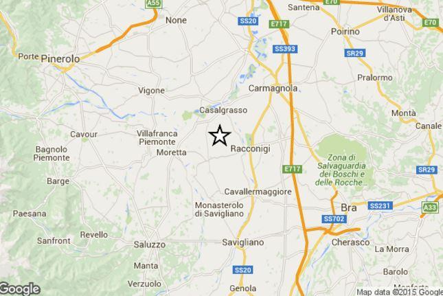 Terremoto oggi Piemonte: scossa di magnitudo 3.1 in provincia di Cuneo