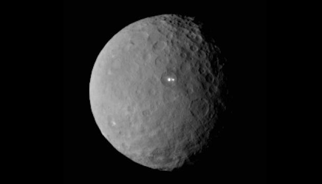 Cerere: la sonda Dawn spiega il motivo delle macchie bianche luminose