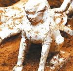 Sfinge ritrovata in una tomba nella Cina del nord