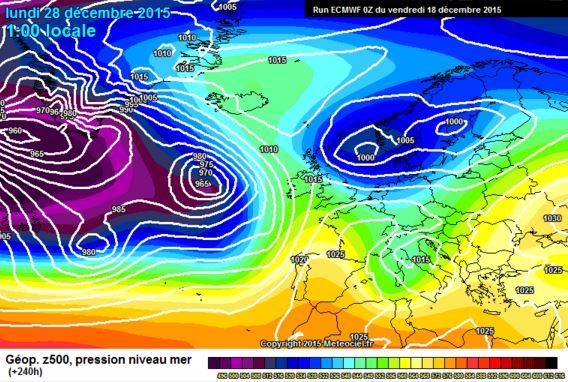 Tendenza meteo: dopo Natale qualcosa si muove, ECMWF vede possibili basse pressioni