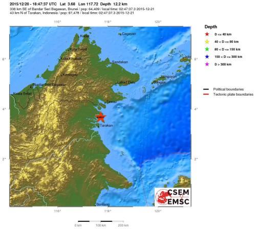 Forte scossa di terremoto in Indonesia, magnitudo 6.0 della scala Richter