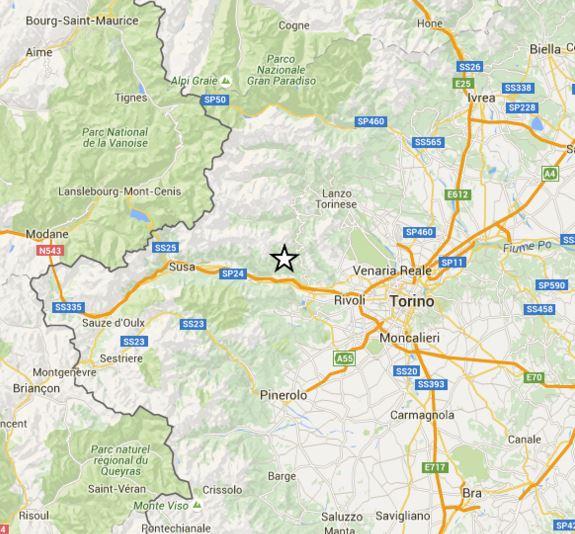 Terremoto oggi Piemonte: lieve scossa a pochi chilometri da Torino