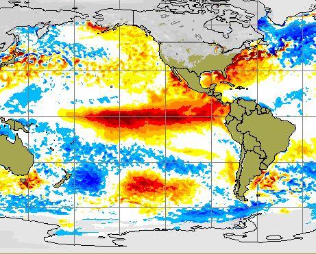 El Nino perderà potenza nel secondo trimestre del 2016
