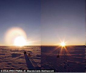 Antartide spettacolo, 24 ore di luce solare in una foto