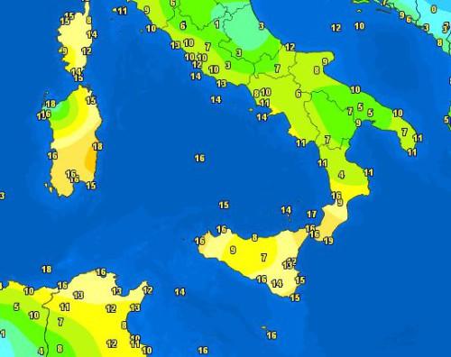 Mite risveglio su Isole e Calabria, temperature sfiorano i 20°C