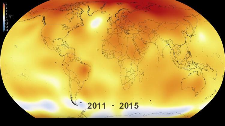 NASA, il cambiamento climatico in 30 secondi di video