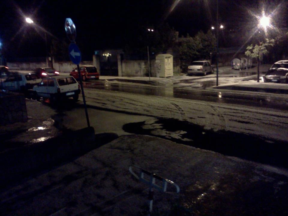Grandine Palermo, violento temporale imbianca parte della città