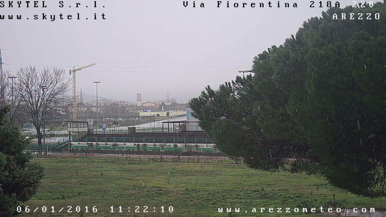 Neve Arezzo: sfonda l'aria fredda, merito delle forti precipitazioni e del microclima