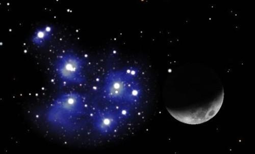 Congiunzione Luna – Pleiadi: come osservare il nuovo evento astronomico