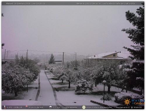 Neve a quote molto basse su Campania e Calabria