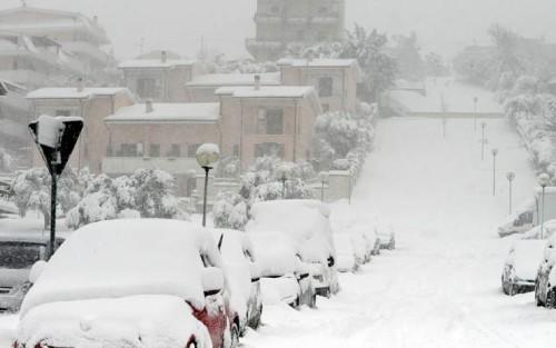 Neve, fino a 60-70 cm tra Abruzzo e Molise