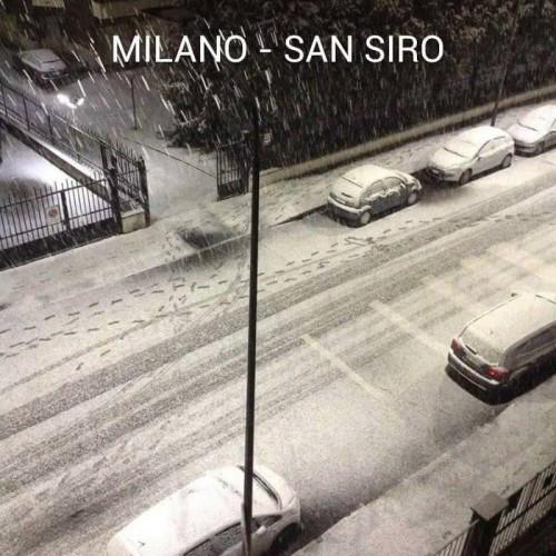 Neve Milano, città imbiancata grazie a forti rovesci