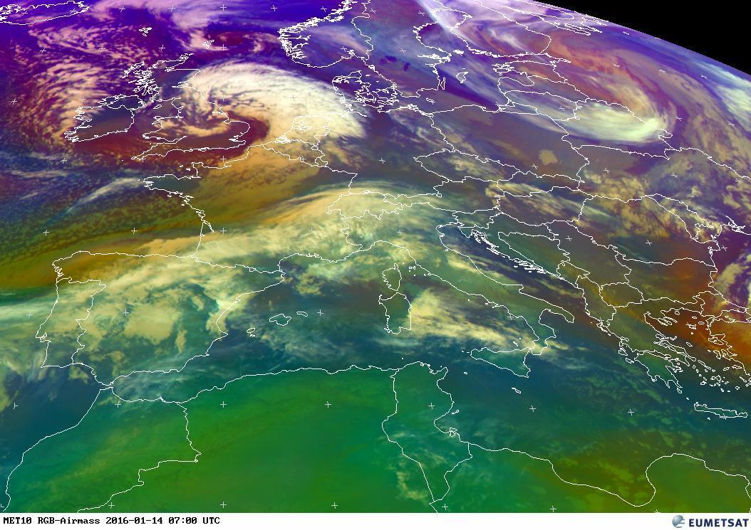 Satellite live, blocco d'aria artica in discesa verso sud