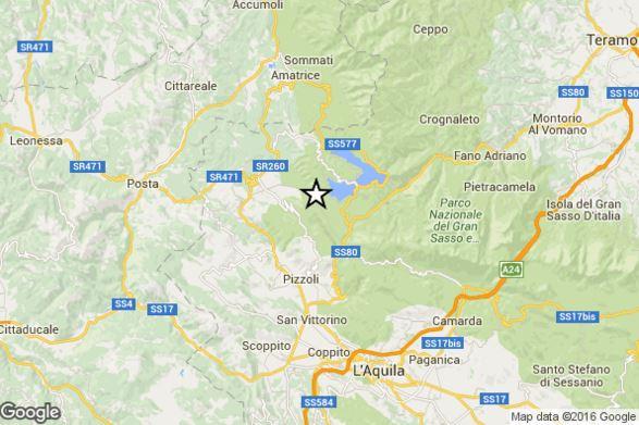 Terremoto Abruzzo oggi, M 3.5 Richter epicentro a Nord dell'Aquila