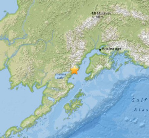 Terremoto Alaska oggi, intensa scossa di M 7.1 Richter