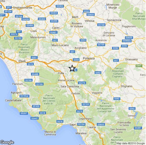 Terremoto Basilicata Campania 9 Gennaio, scossa di magnitudo 3.0 Richter, dati INGV