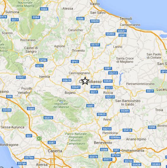 Terremoto Molise 17 Gennaio, scossa M 3.6 Richter, epicentro a Campobasso