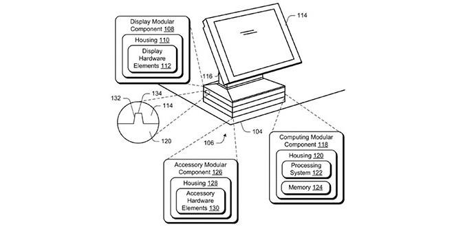 Microsoft, brevettato un computer con componenti impiliabili