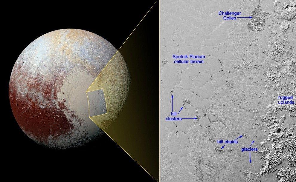 New Horizons, scoperte misteriose colline su Plutone