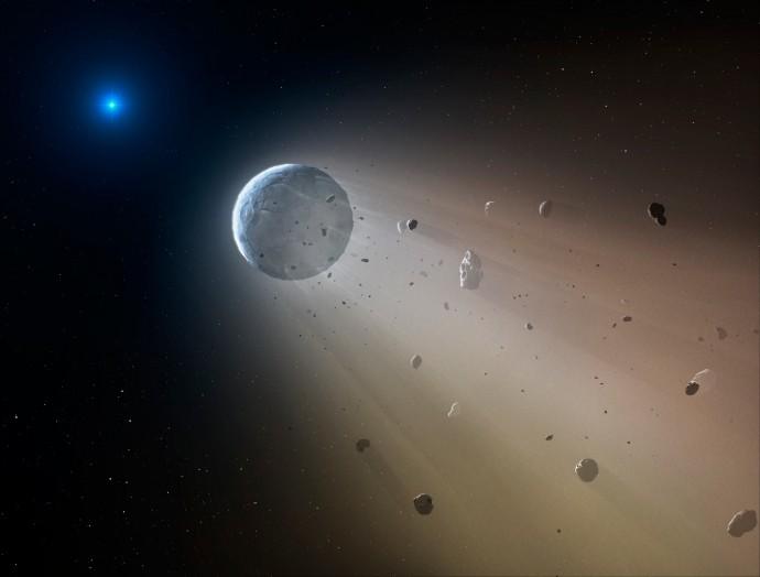 Spazio: osservata una nana bianca che distrugge un pianeta nano