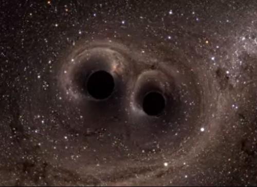 Buchi neri: il video in alta definizione della loro collisione