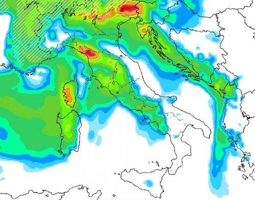 Tendenza meteo: maltempo in arrivo sull'Italia, neve copiosa sulle Alpi