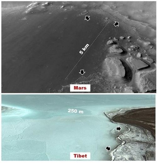 Marte, l'antichissimo lago abitabile nel Noctis Labhyrintus