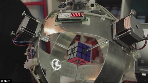 Robot risolve il cubo di Rubik in 0,887 secondi! Video