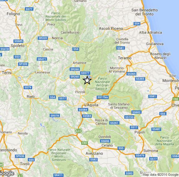 Terremoto Abruzzo oggi, scossa M 2.9 a Nord dell'Aquila, dati INGV