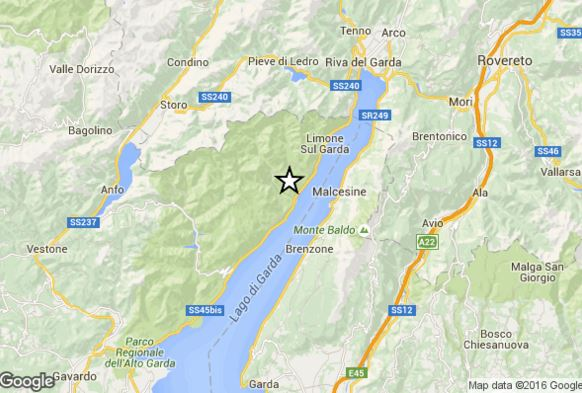 Terremoto oggi Lombardia Trentino-Alto Adige e Veneto, scossa del terzo grado Richter