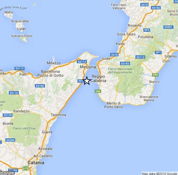 Terremoto Sicilia Calabria: lieve scossa di magnitudo 2.4 Richter avvertita nello Stretto di Messina