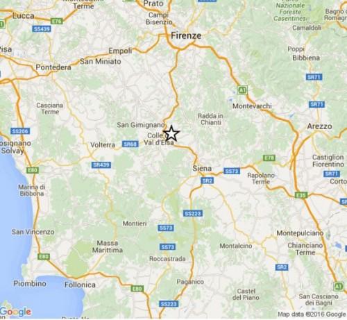 Terremoto Toscana oggi: avvertita scossa in provincia di Siena, magnitudo 3.4 Richter